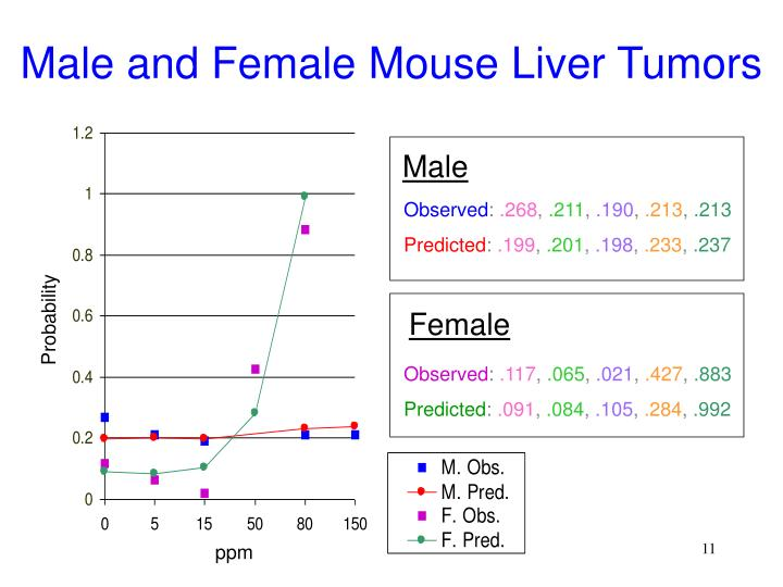 Male and Female Mouse Liver Tumors