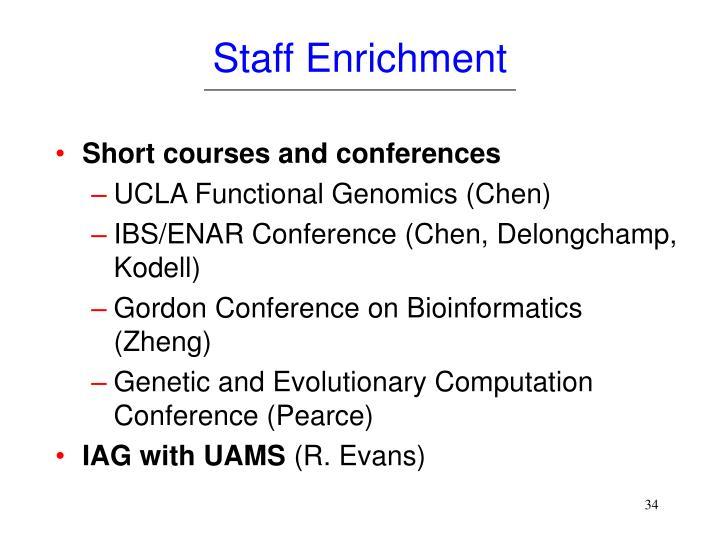 Staff Enrichment