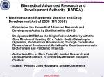biomedical advanced research and development authority barda