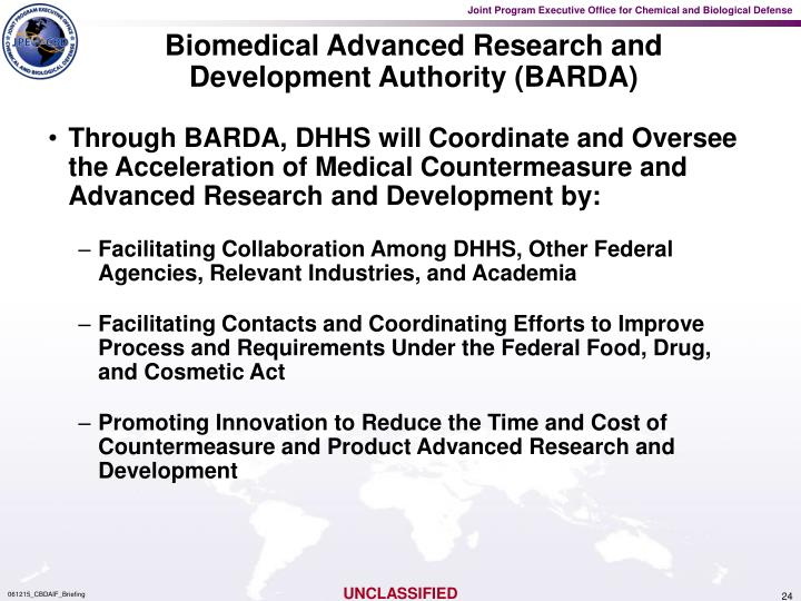 Biomedical Advanced Research and Development Authority (BARDA)
