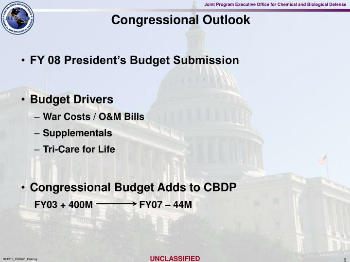 Congressional outlook
