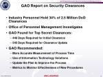 gao report on security clearances