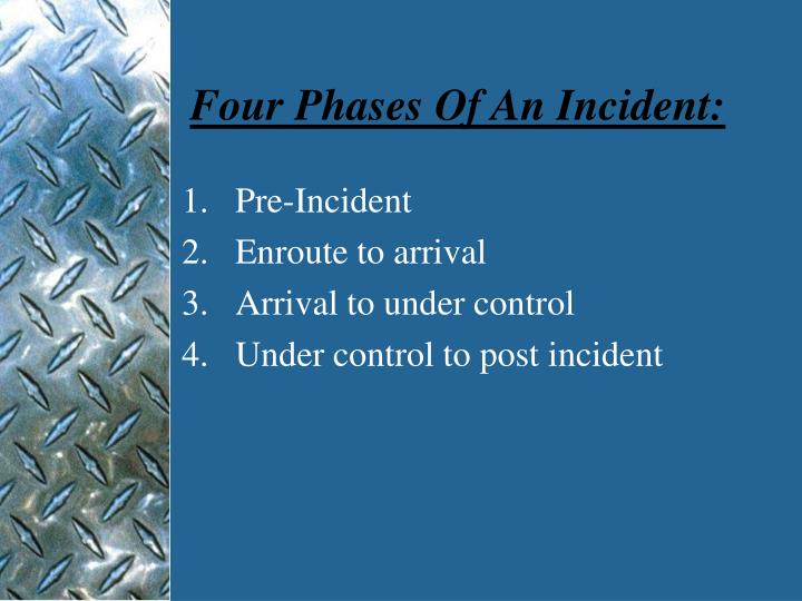 Four Phases Of An Incident: