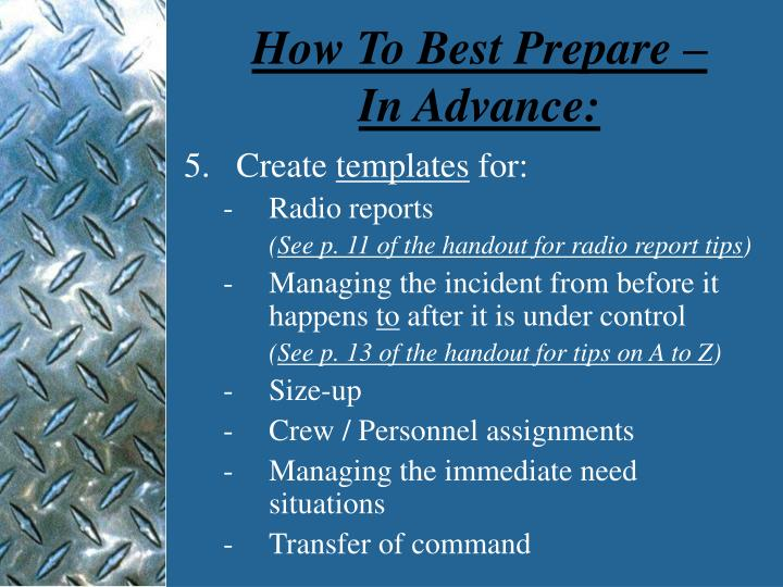 How To Best Prepare –