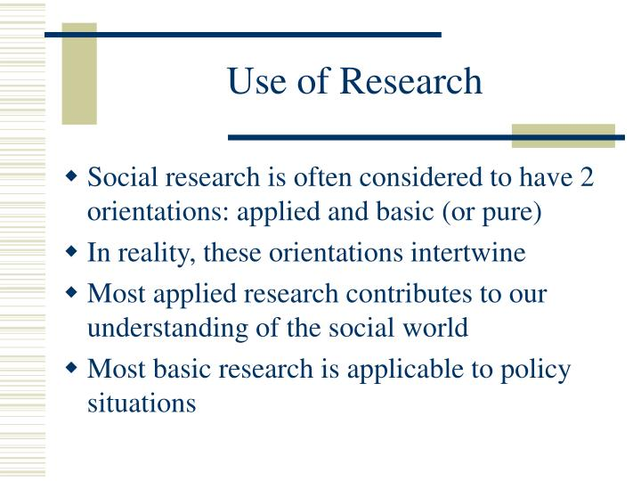 Use of Research