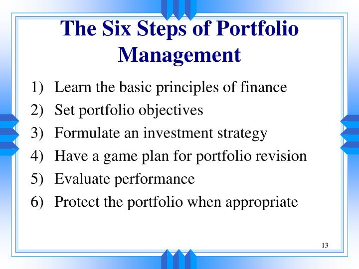 The Six Steps of Portfolio Management