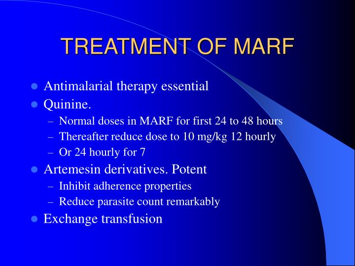 TREATMENT OF MARF