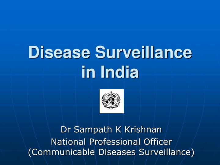disease surveillance in india