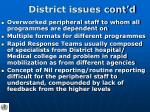 district issues cont d