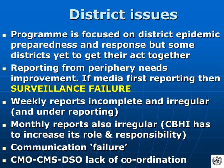 District issues