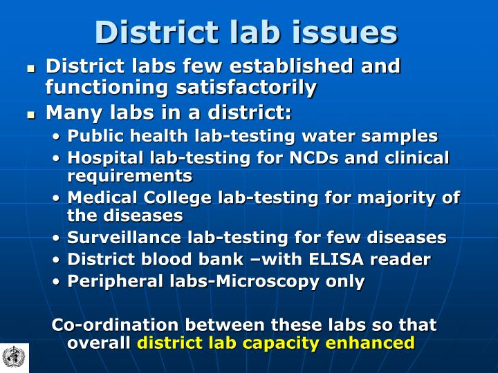 District lab issues