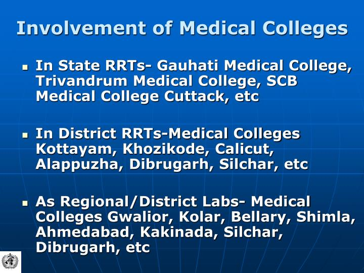 Involvement of Medical Colleges