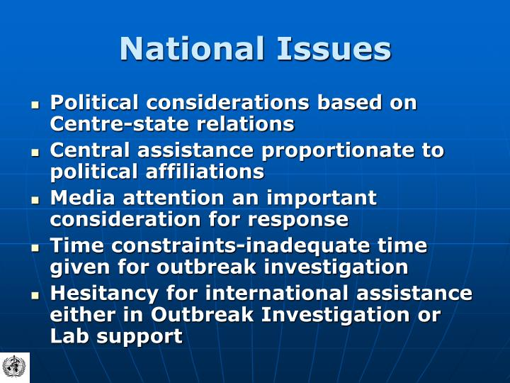 National Issues