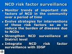 ncd risk factor surveillance