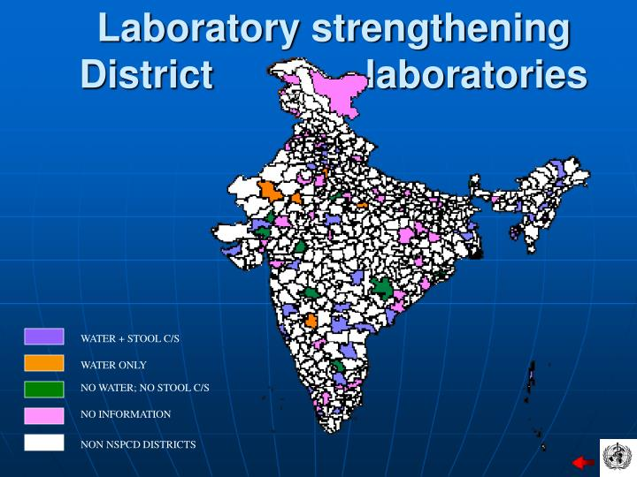 Laboratory strengthening District              laboratories