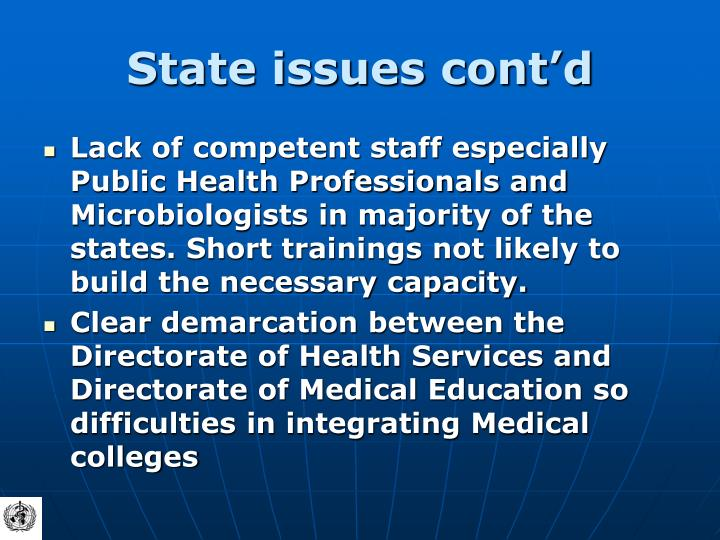 State issues cont'd