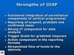 strengths of idsp