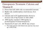 osteoporosis treatment calcium and vitamin d