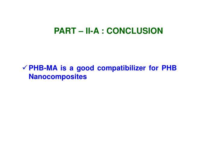 PART – II-A : CONCLUSION