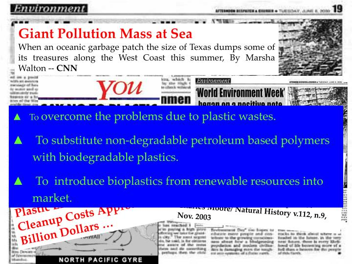 Giant Pollution Mass at Sea