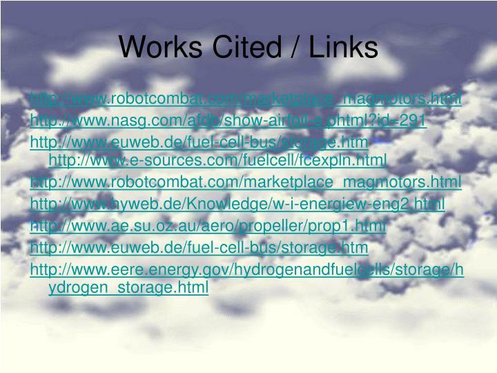 Works Cited / Links
