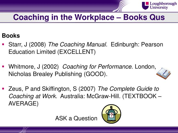 Coaching in the Workplace – Books Qus