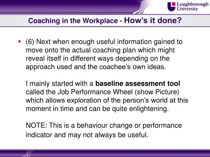 Coaching in the Workplace -