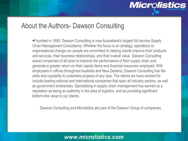 About the Authors- Dawson Consulting