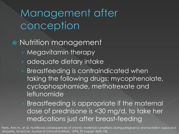 Management after conception