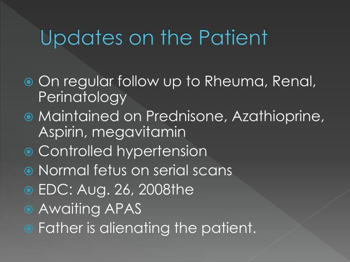 Updates on the Patient
