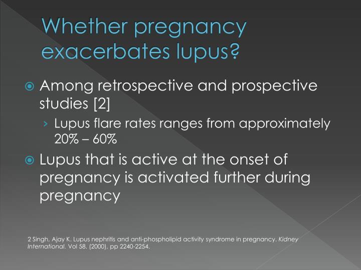 Whether pregnancy exacerbates lupus?