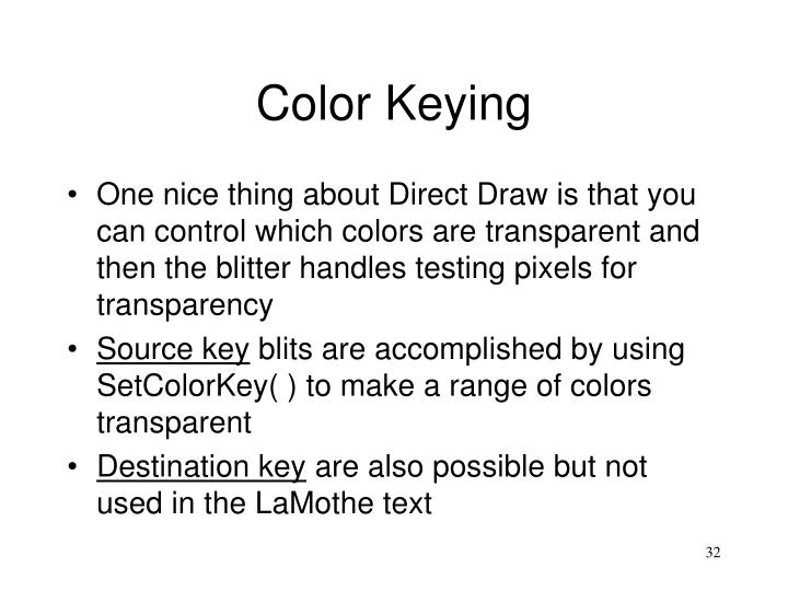 Color Keying