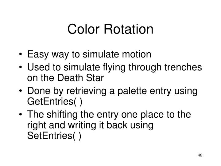 Color Rotation