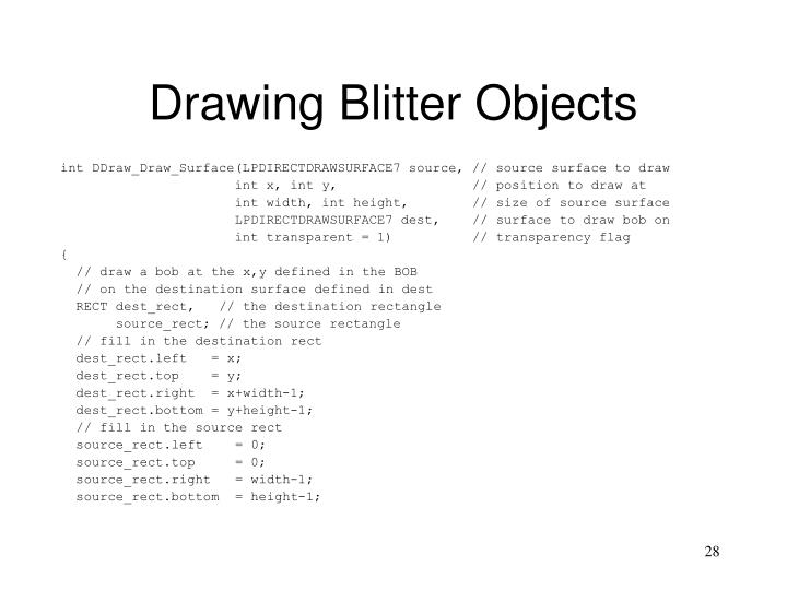 Drawing Blitter Objects
