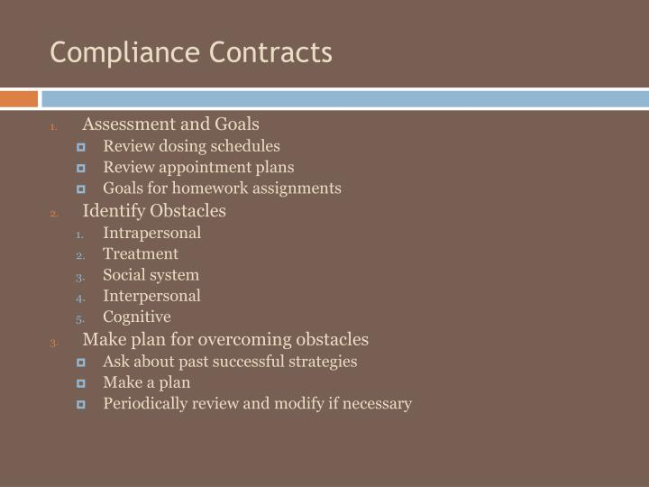 Compliance Contracts