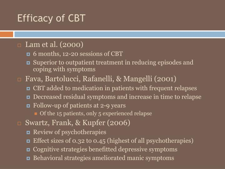 Efficacy of CBT