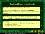 seeking change in the courts