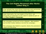 the civil rights movement after martin luther king jr