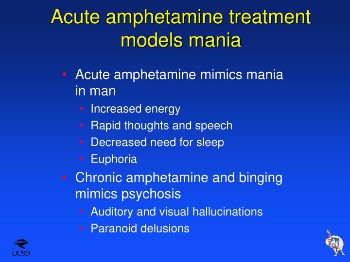 Acute amphetamine treatment models mania