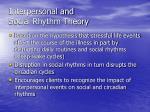 interpersonal and social rhythm theory