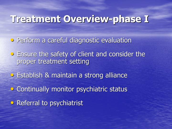 Treatment Overview-phase I