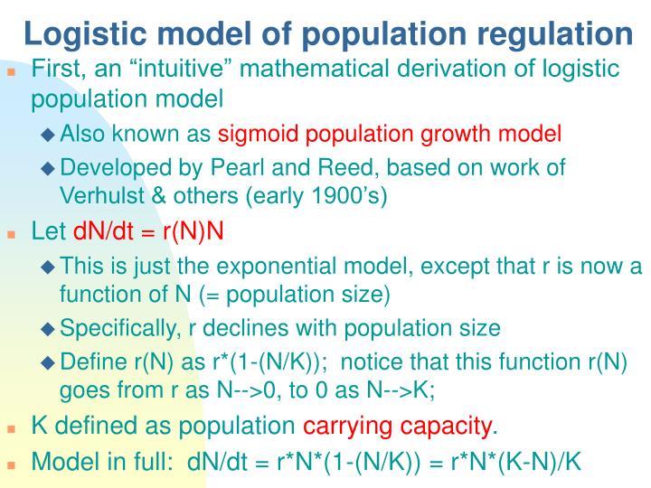 Logistic model of population regulation