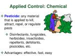applied control chemical