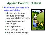 applied control cultural
