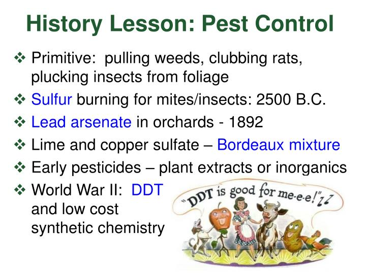 History Lesson: Pest Control
