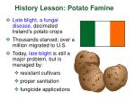 history lesson potato famine