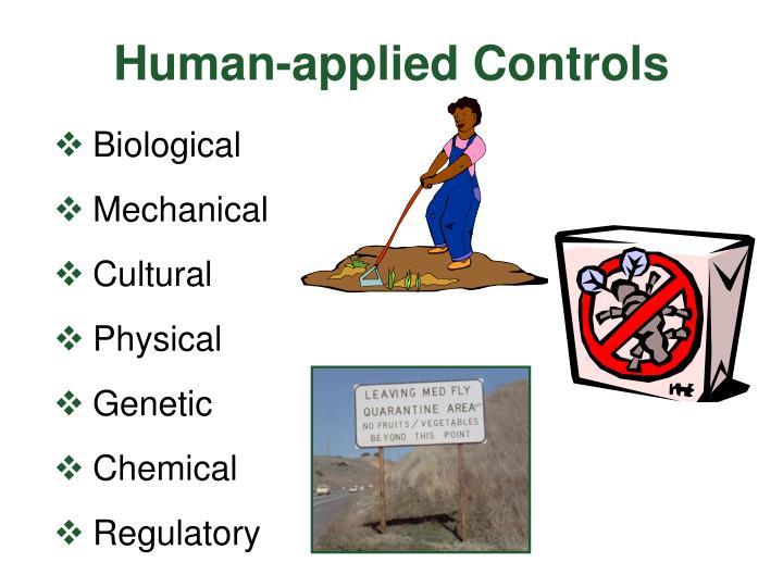 Human-applied Controls
