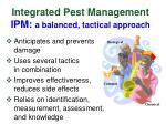 integrated pest management ipm a balanced tactical approach
