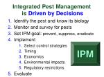 integrated pest management is driven by decisions