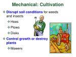 mechanical cultivation